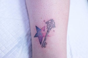 key star tattoo